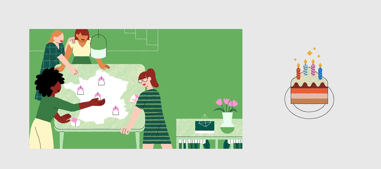 La carte de voeux de La Maison des femmes media 3